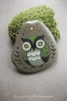 Moss Green Owl by JillHoffman
