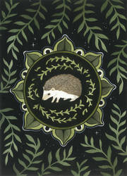 Hedgehog Medallion by JillHoffman