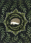 Hedgehog Medallion by JillHoffman