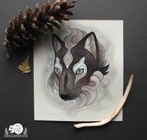 Floating Wolf Guardian by JillHoffman