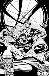Doctor Strange inks by camadams0925