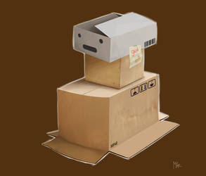 Cardboard box Fan by spownja