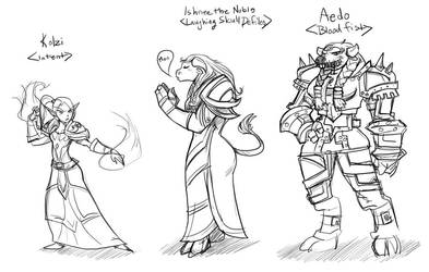 Free ER Warcraft Doodles by Drunkfu