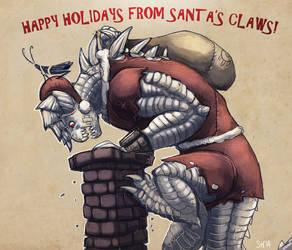 Happy holidays from Santa Claws by Drunkfu