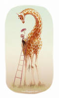 Flowers for Miss Giraffe by ciaee