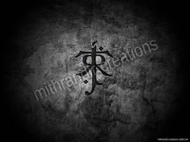 JRRT - Tolkien logo wallpaper by Mithrandir29