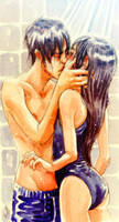 First kiss while showering by CristinaKokoro