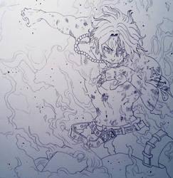 Portgas D. Ace Sketch by KurumiAiren