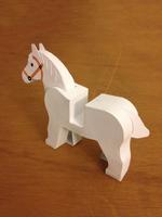 LEGO paperfigures Horse by kspudw