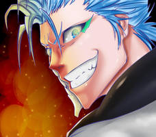 Grimmjow smile by Salty-art