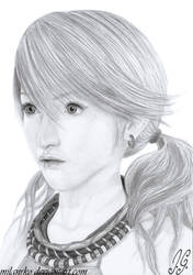 Final Fantasy XIII Vanille Pencil Drawing by MilanRKO