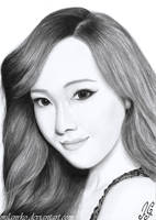 Jessica Jung Pencil Drawing by MilanRKO
