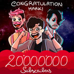 Markiplier 20m subs by LadyWarlock03