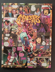 West Coast Avengers no. 1 MARVEL Comic Collage by HPComicCollages