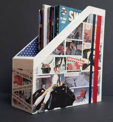Death or Glory Comic Collage Magazine Holder by HPComicCollages