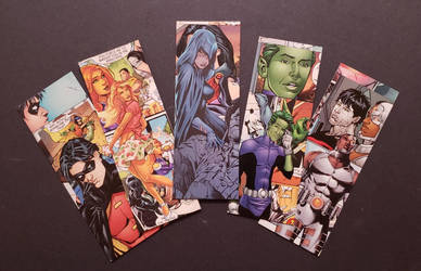 Teen Titans Collage Bookmarks by HPComicCollages