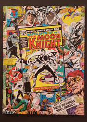 Moon Knight Comic Collage by HPComicCollages