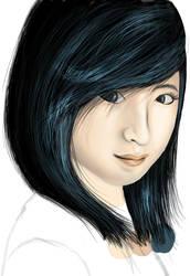 Blue Girl by Viv-aious