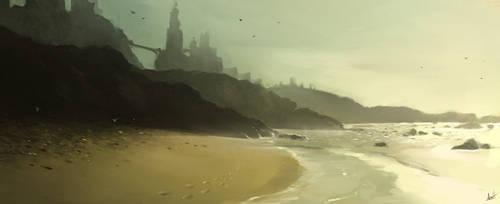 Ocean Fort by AaronGriffinArt