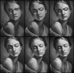 Portrait Practice 3 Process by AaronGriffinArt