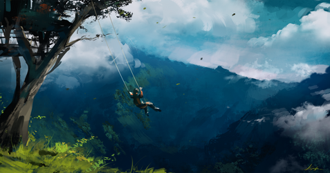 Edge of the World - Spitpaint by AaronGriffinArt