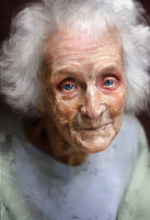 Study of an Elderly Woman by AaronGriffinArt