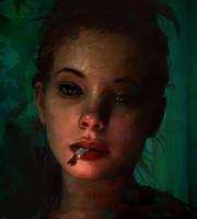 Cigarette by AaronGriffinArt
