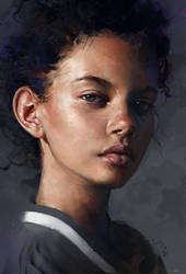 Marina Nery Study by AaronGriffinArt