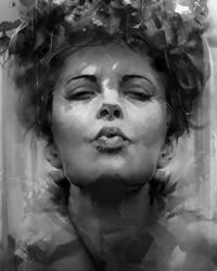 Rough Portrait by AaronGriffinArt