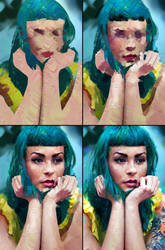 Colour Study Process by AaronGriffinArt