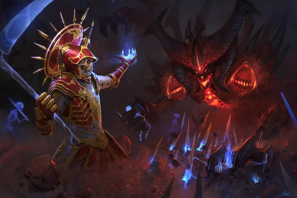 Necromancer vs Diablo by AaronGriffinArt