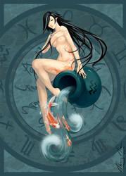 zodiac : aquarius by ThuyLTran
