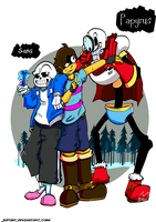 Undertale : Meet the Skeletons brothers by Jupony