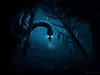 Something lurks in the dark by Whiteligtning