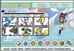 Lukari's trainer card revised by Pointsettia