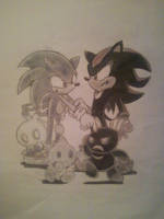 Sonic and Shadow by Pointsettia