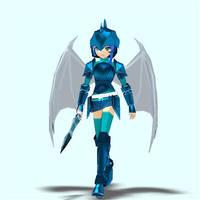 Mabinogi/Sonic Luna pose 4 by Pointsettia