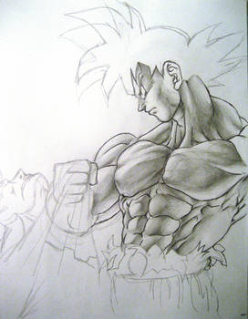 Goku vs Superman unfinished by TicoDrawing