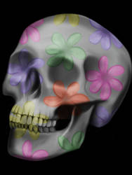 Skull (with Flowers) by birds-on-a-wire