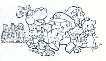 Paper Mario: Thousand Year Door by ItsPancakeTimex3