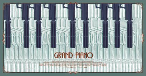 'Grand Piano' vector poster by metalraj