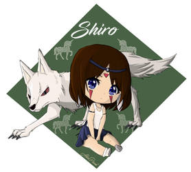 Chibi Mononoke hime for my friend Shiro by AkiraPierrot