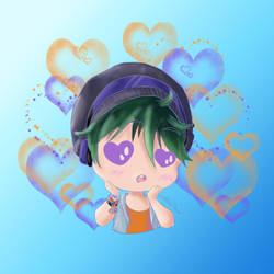 Chibi Phyxius Hearts Color version by AkiraPierrot