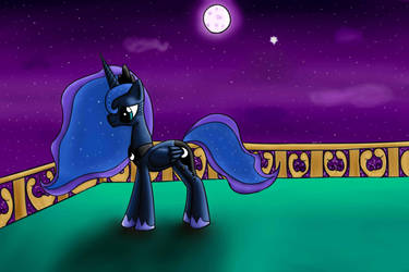 Luna on the porch by MoonSheid