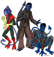 Nightcrawler from 3 Mediums by andydiehl
