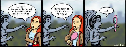 Amy versus the Weeping Angels by andydiehl