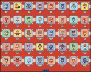 Tiny Megaman and enemies by DanOcean