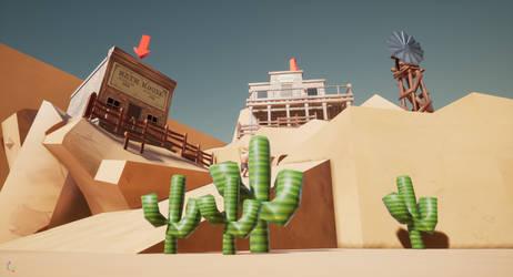 First Unreal game - Tumbleweed game by MiekeYperman