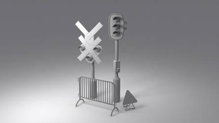 Lowpoly traffic models by MiekeYperman