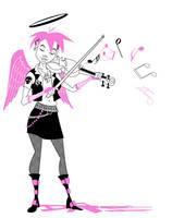 Angel Punk Violinist by Sodano